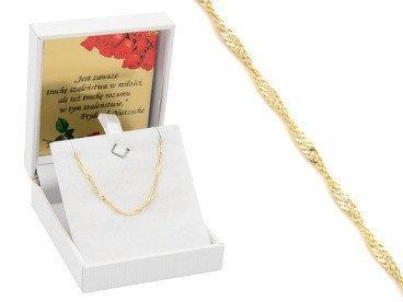 Bransoletka łańcuszek złoto pr. 333  Prezent URODZINY ŚWIĘTA DEDYKACJA różowa kokardka