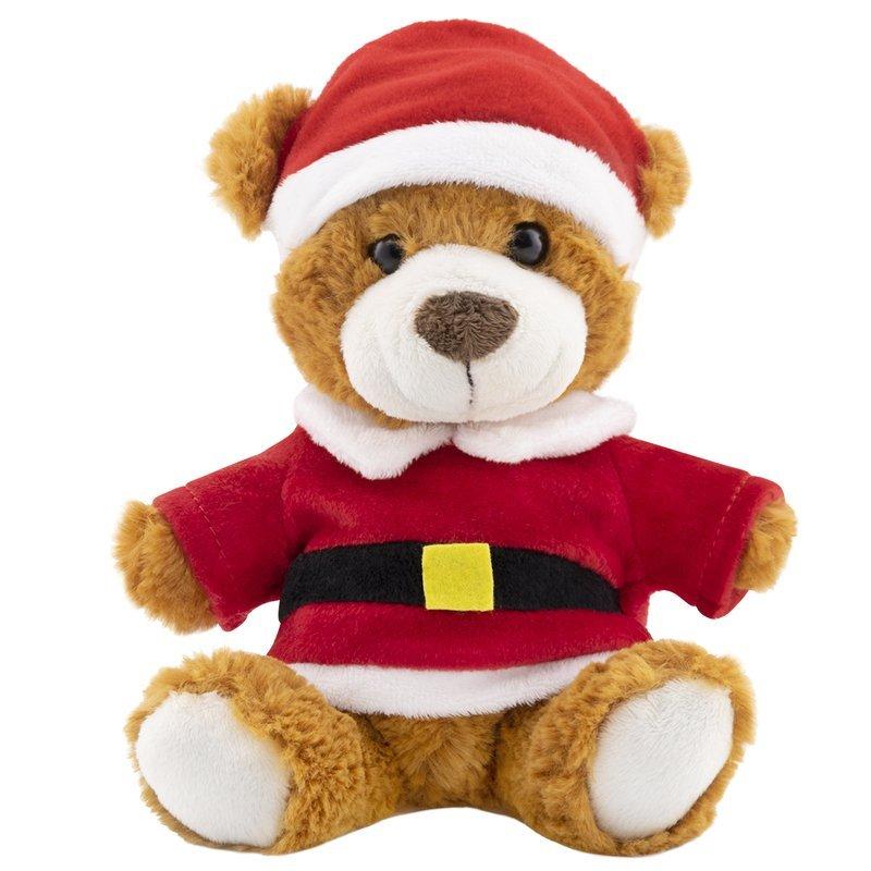 Pluszowy Miś w stroju Świętego Mikołaja