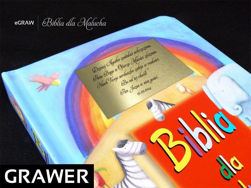 Biblia dla Malucha. Pamiątka na Chrzest z dedykacją