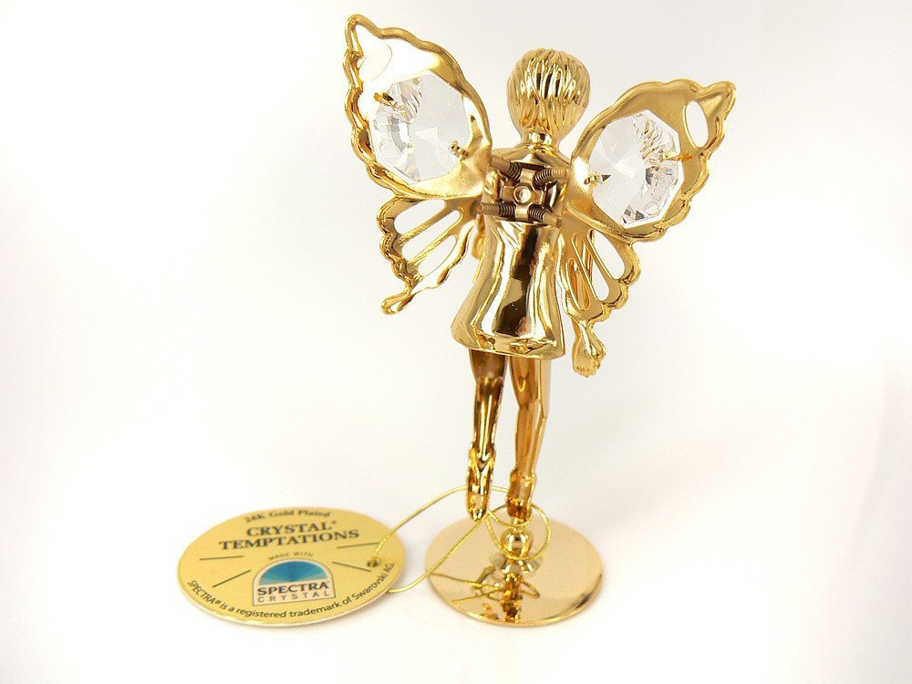 Elf z kryształami Swarovskiego Tabliczka Grawer