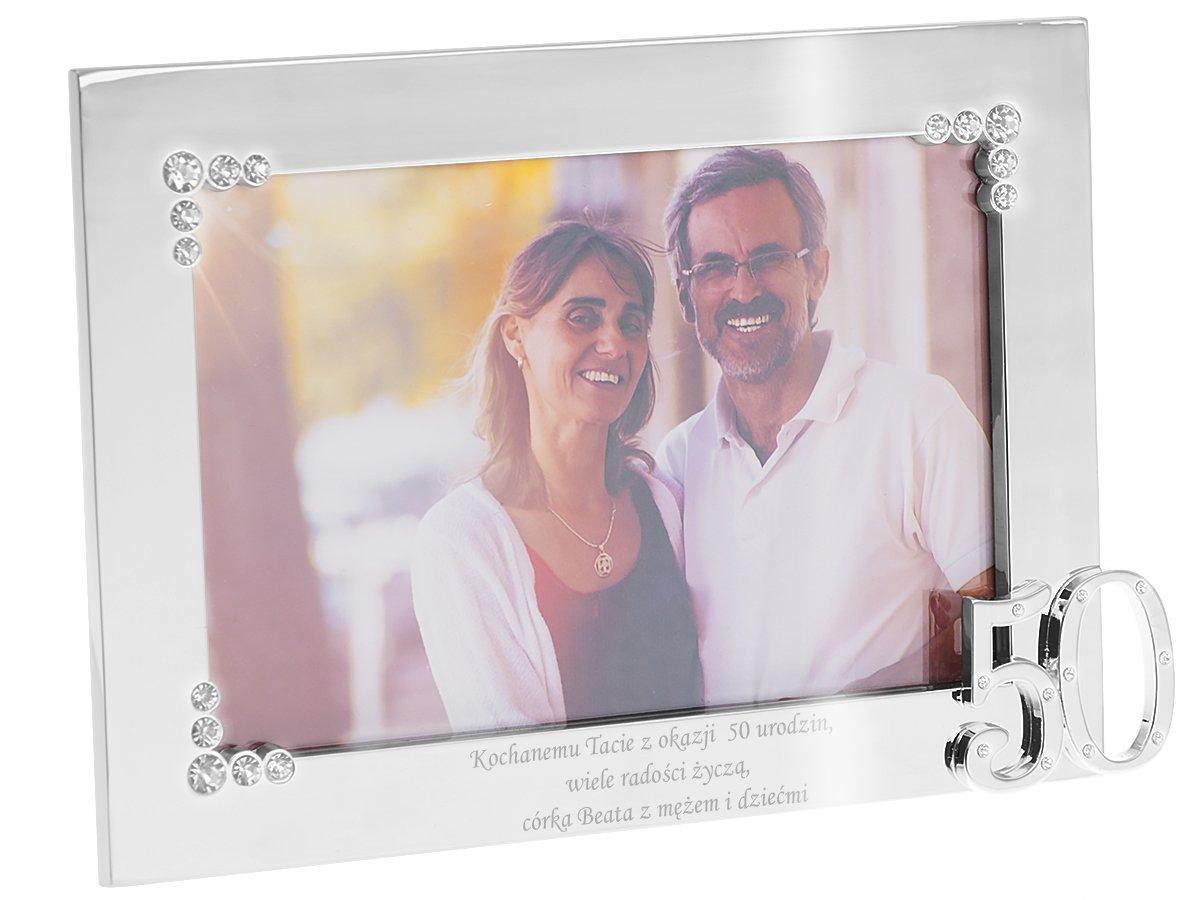Ramka zdjęcie 10x15 Prezent 50 Rocznica Urodziny GRAWER