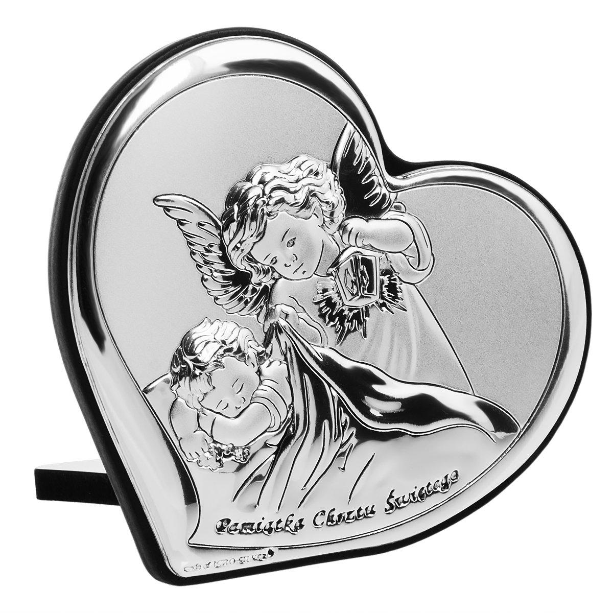 Srebrny Obrazek Aniolek Z Latarenka Pamiatka Chrztu Swietego