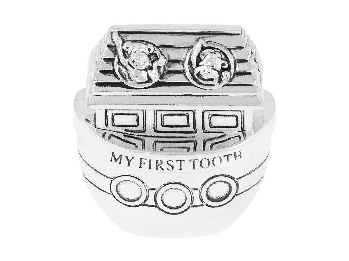 Szkatułki na ząbek i pierwszy pukiel włosów Arka Noego Chrzest Roczek DEDYKACJA