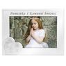 Ramka na zdjęcie I Komunia Św. dla Dziewczynki na białym drewnie Grawer 3