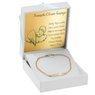 Bransoletka łańcuszek z blaszką złoto 585 z regulacją GRAWER niebieska kokardka 4