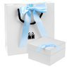 Buciki baletki Niebieskie chrzest roczek Swarovski Grawer 7