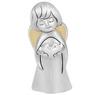Figurka anioła z sercem, posrebrzana na Chrzest  1