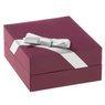 Naszyjnik stópka z różową cyrkonią srebro 925 Grawer 7