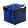 Pudełko na prezent granat niebieski wzór S 2