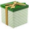 Pudełko na prezent zielona kratka M+ 1