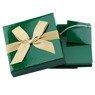 Pudełko na prezent zielone ze złotą tasiemką XS 2