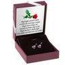 Srebrne kolczyki pr. 925 serce z różową cyrkonią DEDYKACJA 6
