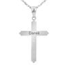 Srebrny Krzyżyk pr. 925 Chrzest Komunia Grawer 5
