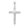 Srebrny duży krzyżyk z Jezusem / na I Komunię Św. / Chrzest Św. / pr. 925 / z Grawerem 3