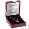 Srebrny komplet wisiorek pr. 925 serce z różową cyrkonią DEDYKACJA 6