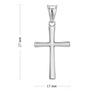 Srebrny krzyżyk / na I Komunię Św./ dla mężczyzny / dla kobiety / pr. 925 4