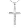 Srebrny krzyżyk z Jezusem z łańcuszkiem / dla mężczyzny, chłopca / z Grawerem i Dedykacją 3