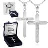 Srebrny krzyżyk z Jezusem z łańcuszkiem / dla mężczyzny, chłopca / z Grawerem i Dedykacją 1