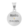 Srebrny medalik Matka Boska Częstochowska GRAWER 5