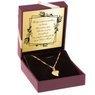 Złoty Łańcuszek wisiorek Serce 585 Prezent z Grawerem  2