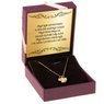 Złoty Naszyjnik koniczynka Celebrytka pr. 585 (14 K) GRAWER różowa kokardka 2
