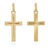 Złoty krzyżyk / pr. 585 / prezent na Chrzest Św., I Komunię Św., Bierzmowanie / z Grawerem 2