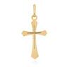 Złoty krzyżyk pr. 585 z Grawerem i Dedykacją / prezent na I Komunie Św., Chrzest Św./ w pudełku z różową kokardką 4