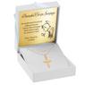 Złoty krzyżyk z łańcuszkiem / pr. 585 / prezent na Chrzest Św., I Komunię Św., Bierzmowanie / z Grawerem 2