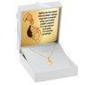 Złoty medalik serce z Matką Boską Częstochowską pr. 585 z Dedykacją 2