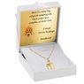 Złoty medalik z Jezus Chrystus pr. 585 Grawer 2