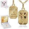 Złoty medalik z Jezus Chrystus pr. 585 Grawer 1