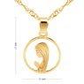 Złoty medalik z Matką Boską Fatimską w okręgu pr. 585 Dedykacja 4