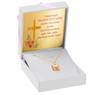 Złoty medalik z Matką Boską i Dzieciątkiem w kolorze z Grawerem - z łańcuszkiem / różowa kokardka / na Chrzest / I Komunię Św. / pr. 585 2