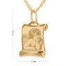 Złoty medalik z łańcuszkiem pr. 585 Aniołek papirus Grawer 3