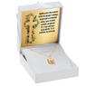 Złoty medalik z łańcuszkiem pr. 585 Matka Boska z Małym Jezusem Chrzest Komunia z Grawerem 1
