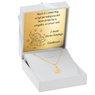 Złoty medalik z łańcuszkiem próba 333 z wizerunkiem Matki Boskiej Chrzest Komunia Bierzmowanie GRAWER niebieska kokardka 6